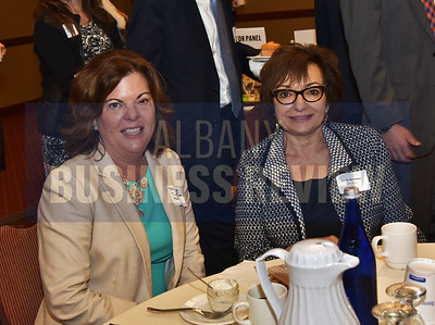 Tracey Metzger from TL Metzger and Associates, left, and Sandy Mardigan from SMS Media