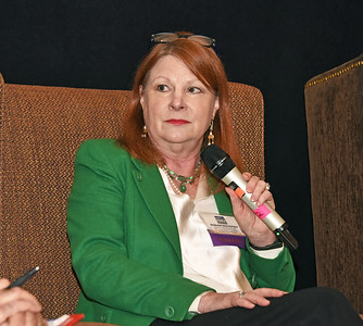 panelist Susan Novotny, owner of The Book House and The Little Book House of Stuyvesant Plaza and Market Block Books