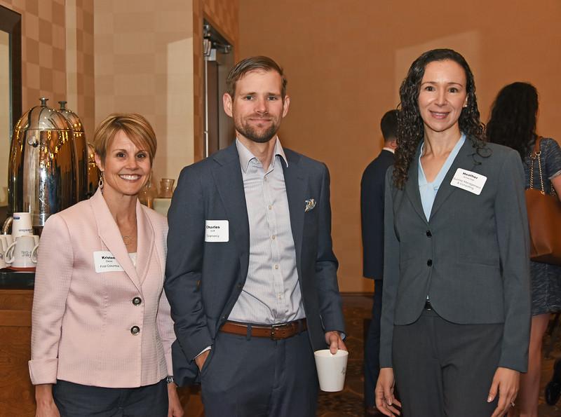 Kristen Diesel, left, Charles Wiff and Heather Schechter