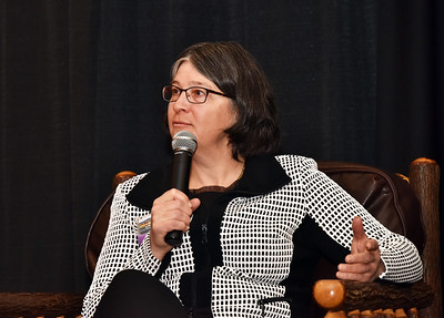 Panelist Cristina Lussi, VP and Co-owner of the Crowne Plaza Lake Placid & Lake Placid Club