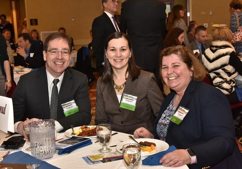Tom Murphy, Alina Kindron and Donna Perkett