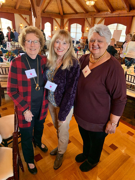 From left, Linda Davis of Chelmsford, Barbara Worcester of Nashua and Joan Varoski of Lowell, a big fan of The Z-List