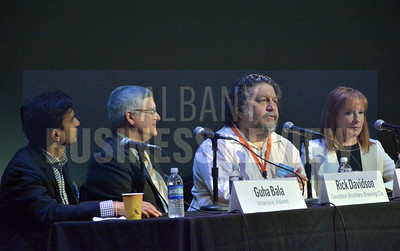 9-11-2014, Power Breakfast, Creative Economy. panelists; Guha Bala, Vicarious Visions; Rick Davidson, Davidson Brothers Brewing Co.; Philip Morris, Proctors; Marcia White, SPAC
