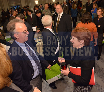 1-30-2014,  Power Breakfast, Economic Development, panelists at event; Kathy Sheehan, Mayor, City of Albany; Michael Hickey, Executive in Residence/Executive Director, Center for Innovation & Entrepreneurship, Siena College;  Margaret Tobin, Executive Director, New York Works Task Force
