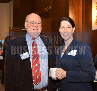 1-29-2015, Economic Outlook Power Breakfast. left, Jerry Shaye, Shaye Global & Jill Leto, UPS