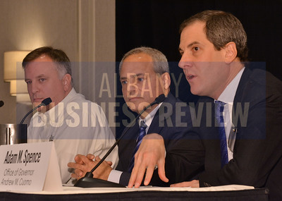 1-29-2015, Economic Outlook Power Breakfast.  panelists David Apkarian of TransTech Systems, Thomas Caulfield of GlobalFoundries, and Adam Spence, assistant secretary for economic development and innovation for the Office of Gov. Andrew Cuomo.