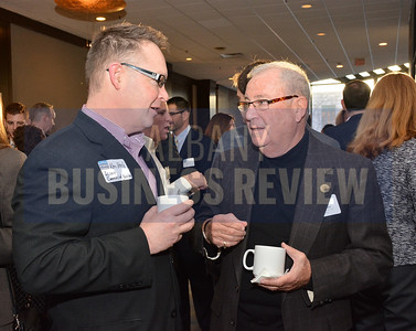 1-29-2015, Economic Outlook Power Breakfast. left, Ken Reed, Accent Commercial Furniture & Judd Suresky, Sunrise Management & Consulting