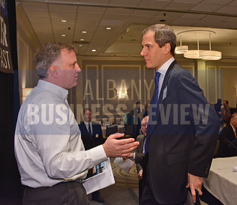 1-29-2015, Economic Outlook Power Breakfast.  David Apkarian of TransTech Systems & Adam Spence, assistant secretary for economic development and innovation for the Office of Gov. Andrew Cuomo.