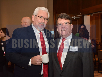1-29-2015, Economic Outlook Power Breakfast. left, Joseph Monahan, MD, Fusco Personnel & Michael Tucker, CEG