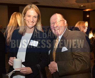 1-29-2015, Economic Outlook Power Breakfast. left, Abigail Doolittle, Greenbush Financial Group & Bob Blackman