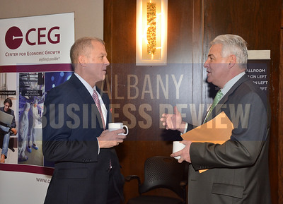 1-29-2015, Economic Outlook Power Breakfast. left, Michael Hickey, chair of CEG & John Giordano