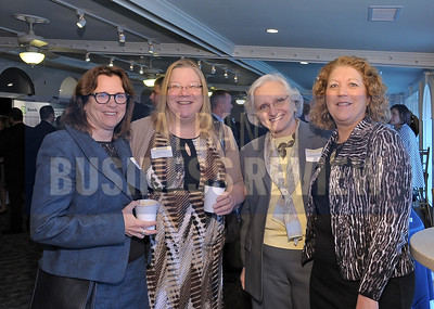 4-24-2015, Albany Business Review's Health Care Power Breakfast. left, Maragaret Roberts, MVP Health Care; Karen Laing, Health Literacy for All; Tiziana Rota, Schenectady County Community College; Nancy Gonzalez, MicroKnowledge.