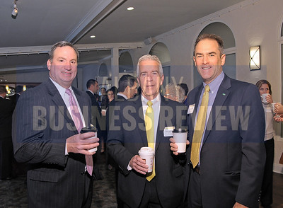 4-24-2015, Albany Business Review's Health Care Power Breakfast. left, Bill DeFrancesco, CDPHP; Barry McNamara, Benetech; Brian O'Grady, CDPHP.