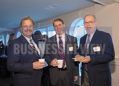 4-24-2015, Albany Business Review's Health Care Power Breakfast. left, Ferninand Venditti, president of Albany Med Faculty Physician Group; Scott Momrow, HIXNY; Louis Snitkoff, Capital Care Medical Group.