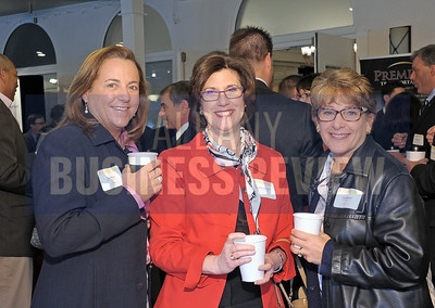 4-24-2015, Albany Business Review's Health Care Power Breakfast. left, Gus Martin, president & CEO Denise Gonick and Julie Faulise of MVP Health Care.