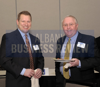 Brian Mulvey from CDPHP, left, with William Cromie of Cromie Consulting.
