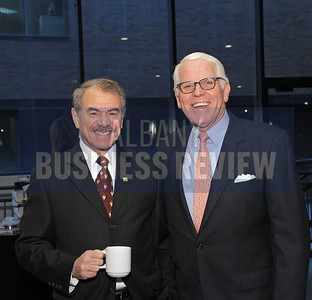 Robert Davey, regional vice president for TD Bank, left, and Robert Lazar, director of business development for Teal, Becker & Chiaramonte, CPAs.
