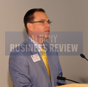 6-24-2015, Albany Business Review's Higher Education Power Breakfast.  Chris Schmitt, Engineering Manager for GE Power & Water.