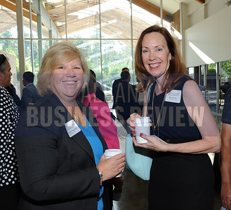 6-24-2015, Albany Business Review's Higher Education Power Breakfast.  Kathleen Pingelski of MicroKnowledge and Mary Becker of Mind Genomics