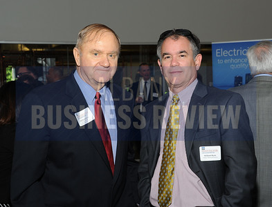 6-24-2015, Albany Business Review's Higher Education Power Breakfast.  Dan Severson of Hoosick Falls Central School District and William Ryan of Tabner, Ryan and Keniry