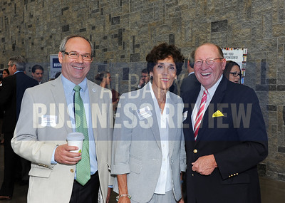6-24-2015, Albany Business Review's Higher Education Power Breakfast.  Mark Mitchell from NYSERDA, Regina LaGratta from HVCC Foundation and Bob Blackman from CEG
