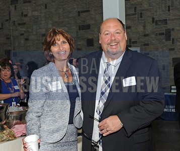 6-24-2015, Albany Business Review's Higher Education Power Breakfast.  Martha Asselin and David Sampson of SCCC