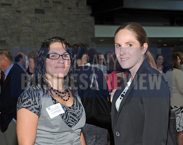6-24-2015, Albany Business Review's Higher Education Power Breakfast.  Anita Domanico of Kinderhook Bank and Lauren Tarsio, AIA, of Mosaic Associates Architects