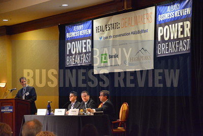 2-27-2014, Real Estate Power Breakfast, panelists; Seth Rosenblum, CEO, The Rosenblum Companies; Toby Milde, president, RBC Construction; Uri Kaufman, president & CEO, The Harmony Group