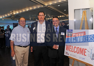 Peter Belmonte, Jr., president of Belmonte Builders, left, with SEFCU 's Edward Jennings and Chris D'Ambro.