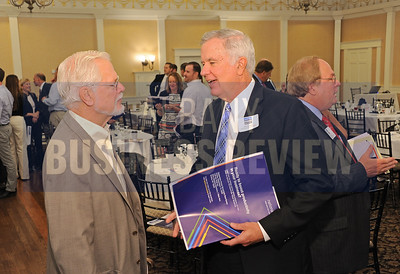 Herbert Ellis, left, with Bill Flaherty of National Grid.