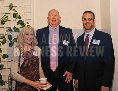 Tracy Conley from The Community Preservation Corp, left, John Wyatt from Saratoga National Bank & Trust and Seth Meltzer from Maddalone & Associates.