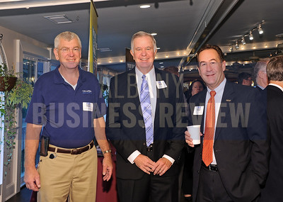 left, Bob Muller and Bill Flaherty from National Grid with David DeMarco from Saratoga National Bank & Trust.