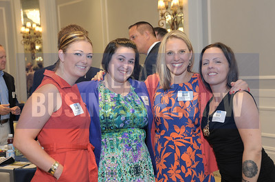 left, Kate Jarosh from Bonacio Construction, Laura Simele from Pavilion Grand Hotel, Jennifer Kercull from Stewart's Shops and Laura Chave from BBL/Excelsior Springs.