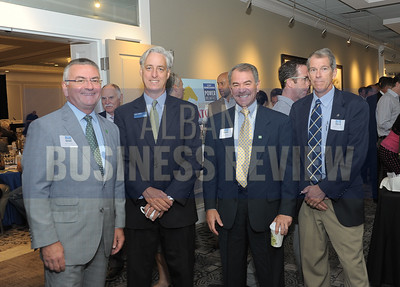 left, Phil Daniels from TD Bank, John Millet from Bouchey & Clarke, Bob Davey from TD Bank and James Amell from Marvin and Company.