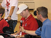 Left to Right<br /> CJ Ginther - PowerHockey Cup 2006 Tournament Manager<br /> Jeff Valin - Special Guest from CityTV Calgary