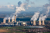 Aerial photo of Drax Power Station.