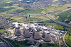 Aerial photo of Ferrybridge C Power station.