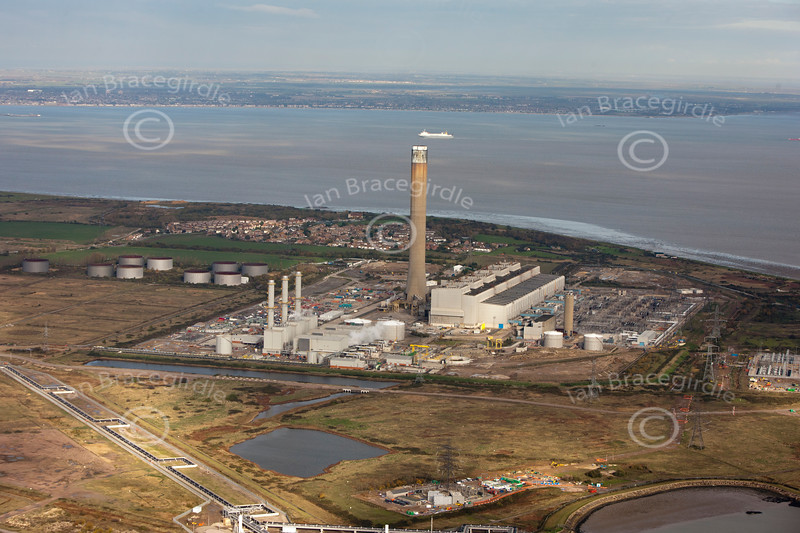 Aerial photo of Grain Power Station.