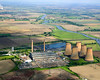 Aerial photo of High Marnham Power Station.