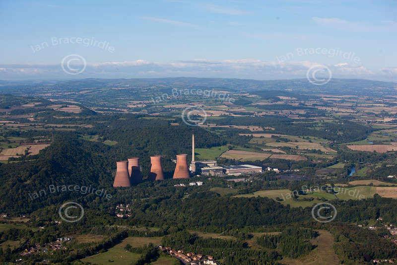 Ironbridge Power Station from the air.