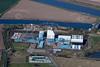 Aerial photo of Saddlebow Power Station.
