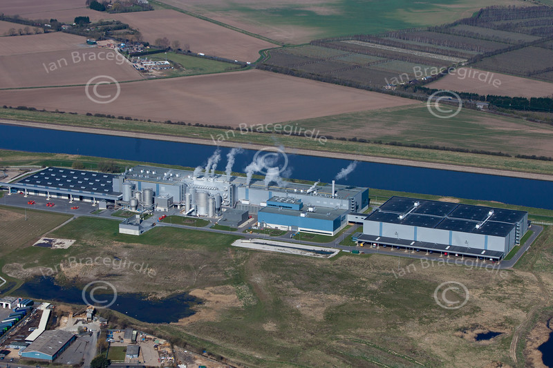 Aerial photo of Saddlebow Power Station.