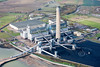 Aerial photo of Kingsnorth Power Station.