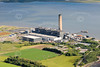 Aerial photo of Longannet Power Station.