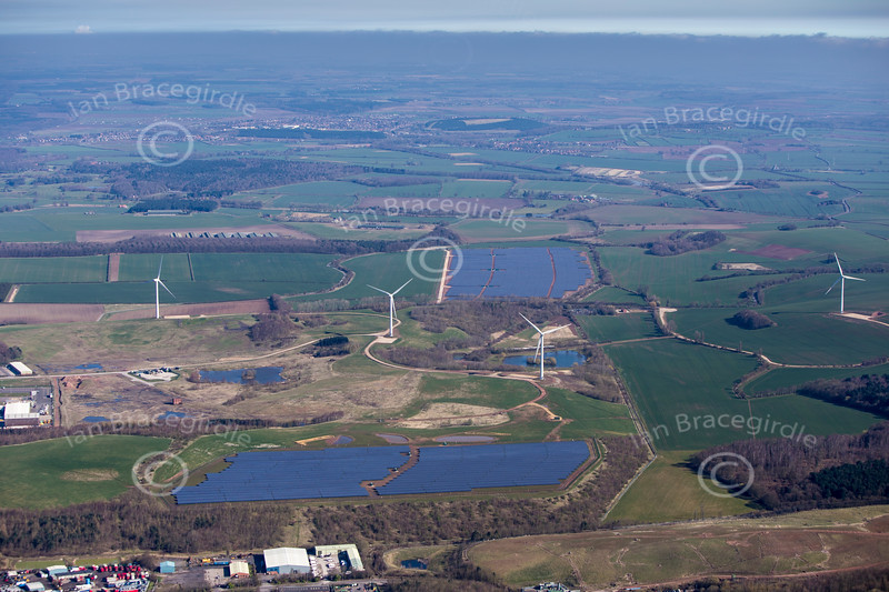Aerial photo of Bilsthorpe.