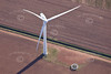Wind turbines from the air.