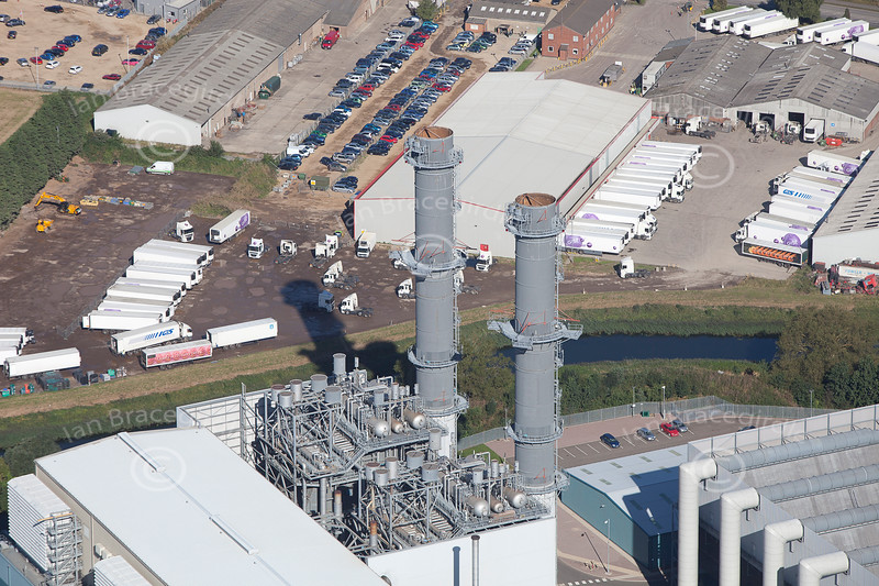 Aerial photo of Spalding Power Station.