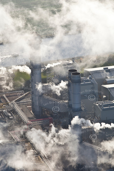 Staythorpe Power Station from the air.