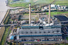 Aerial photo of Tilbury Power Station.