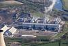 Aerial photo of West Burton Power Station.